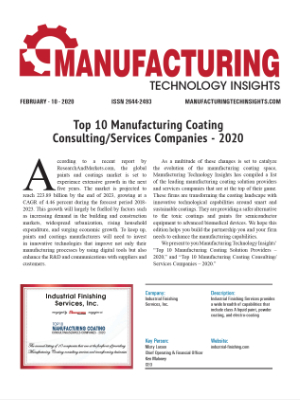 Top 10 Manufacturing Coating Consulting/Services Companies - 2020